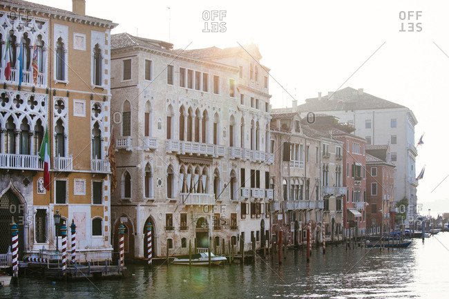 Sunrise on the Grand Canal in Venice Italy