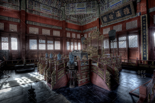 Beijing, China - March 22, 2011: The Beijing Guozijian or The Imperial College interior