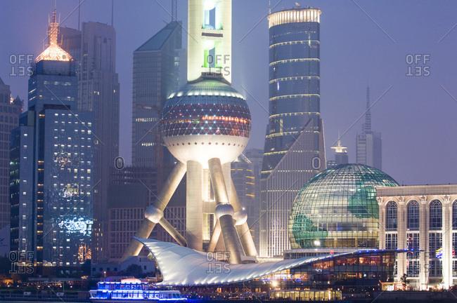 Shanghai, China - June 29, 2008: Shanghai city