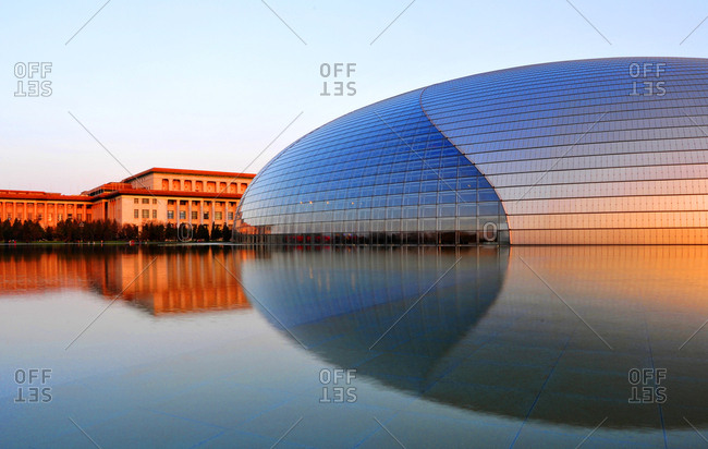 Beijing, China - March 30, 2008: National Centre for the Performing Arts