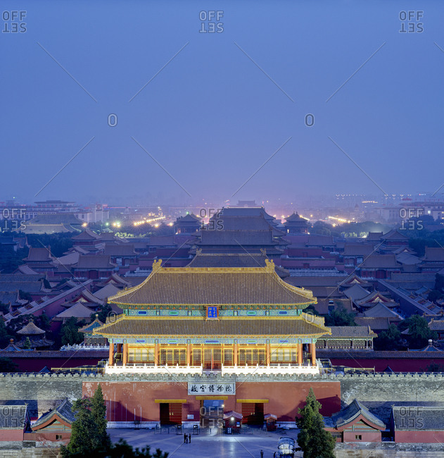 Beijing, China - October 3, 2011: Night at the Chinese Imperial Palace Museum