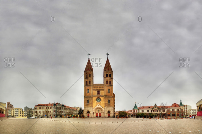 Qingdao, China - April 2, 2011: St. Michael's Cathedral