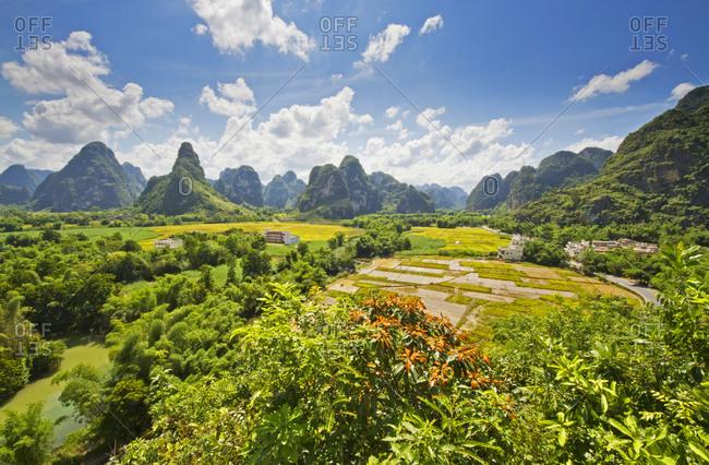 Ming Shi countryside in Guangxi, China