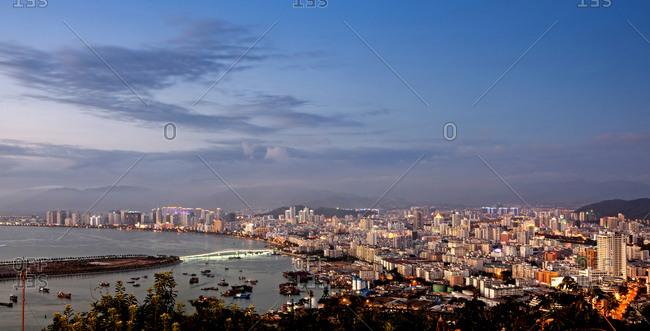 Cityscape of Sanya, China