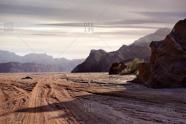 Canyons in the Gobi desert
