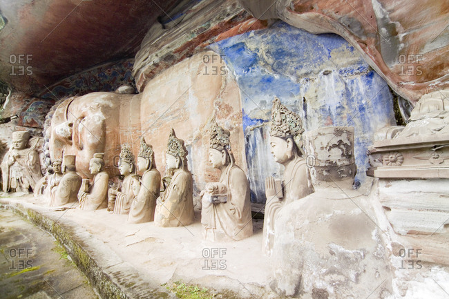 Dazu Rock Carvings Cave in Chongqing, China