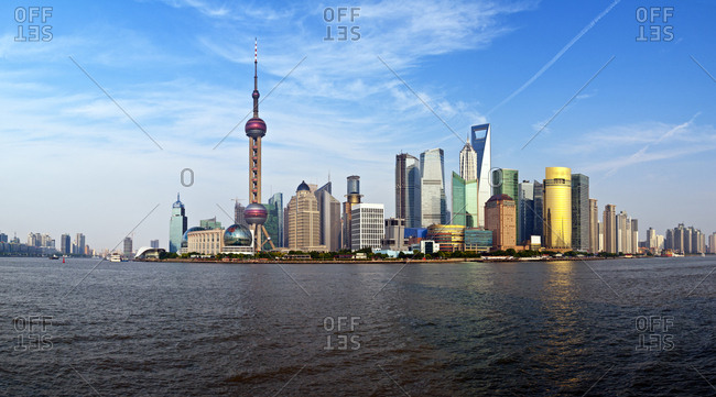 View of Shanghai along the Huangpu River