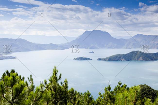 Lugu lake in Yunnan Province, China