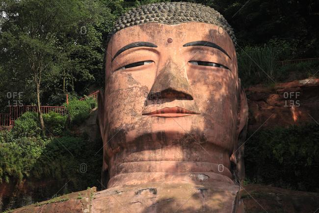 Leshan giant Buddha's face