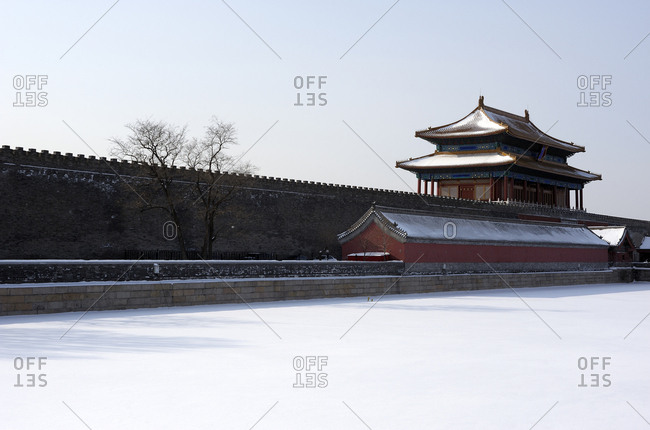 Frozen moat of the Forbidden City