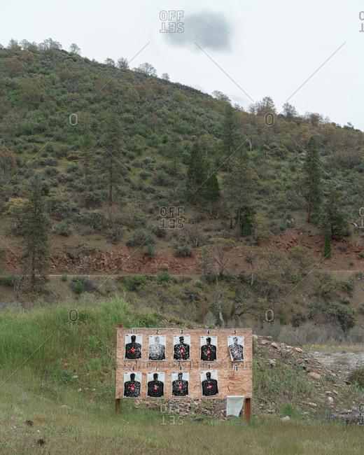 Shooting targets in rural setting