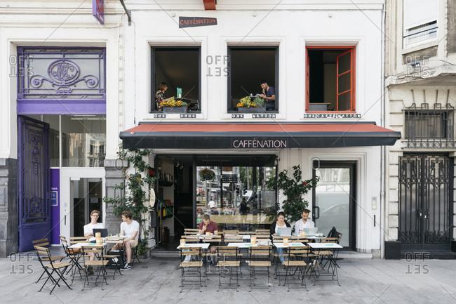 Antwerp, Belgium - May 31, 2017: Cafe Nation in Antwerp