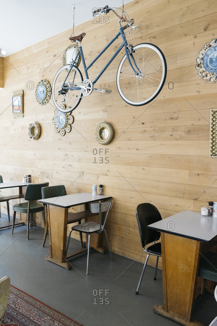 Antwerp, Belgium - May 31, 2017: Interior of Caffeine coffee shop