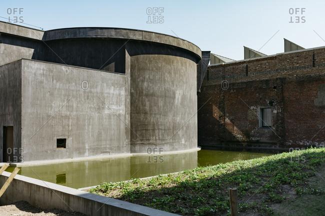 Kanaal, a place designed by Alex Vervordt in Antwerp, Belgium