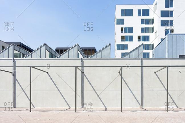 Exterior of building in Kanaal, a place designed by Alex Vervordt in Antwerp, Belgium