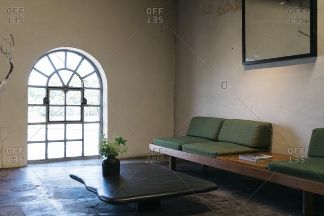 Antwerp, Belgium - June 2, 2017: Interior of home in Kanaal development in Antwerp, Belgium