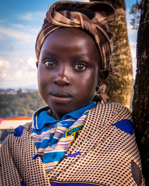 Nairobi, Kenya - April 18, 2015: Portrait of a Kenyan Girl