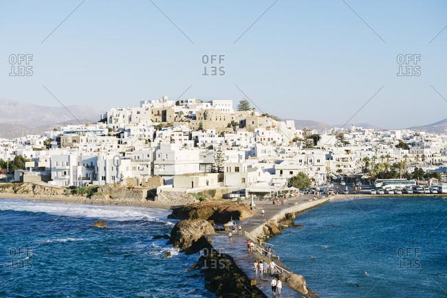 July 8, 2016: Greece- Cyclades- Naxos- townscape