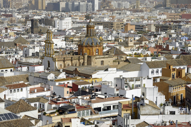February 24, 2017: Spain- Andalusia- Sevilla- Torre Giralda- cityscape