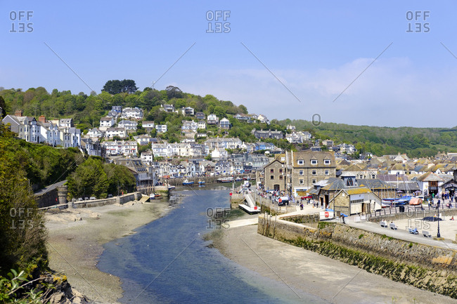 May 8, 2017: UK- England- Cornwall- Looe- view to Looe River