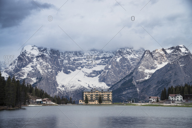 July 5, 2017: Italy- Alto Adige- Dolomites- Hotel at the  Lago di Misurina