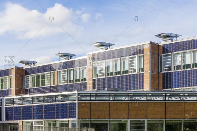 June 4, 2017: Germany- Geislingen an der Steige- energy efficient reconstruction of a school building
