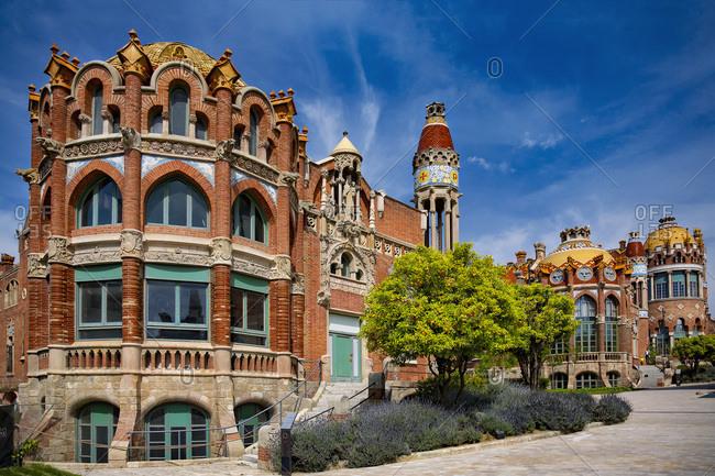 April 15, 2017: Spain- Barcelona- Hospital de la Santa Creu i Sant Pau