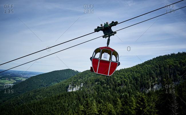 Germany- Chiemgau- gondola of Kampenwandbahn
