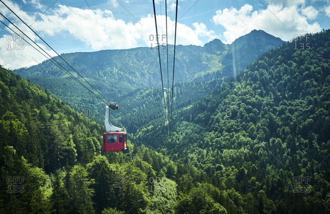 Germany- Chiemgau- gondola of Hochfelln Cable Car