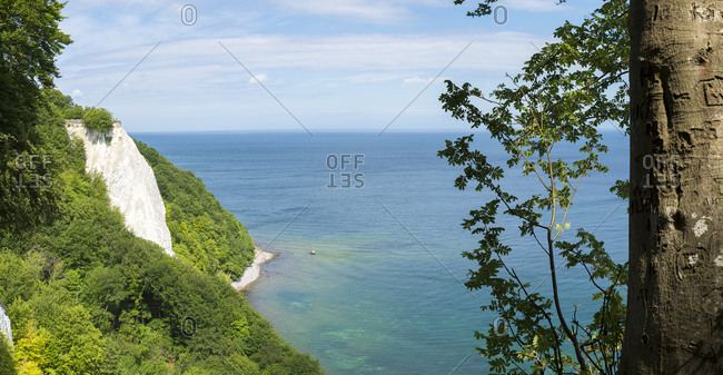 Germany- Ruegen- Jasmund National Park- chalk cliff Koenigsstuhl