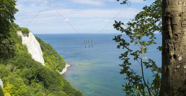 Germany- Ruegen- Jasmund National Park- chalk cliff Koenigsstuhl