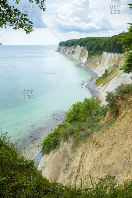 Germany- Ruegen- chalk cliffs in Stubnitz nature reserve
