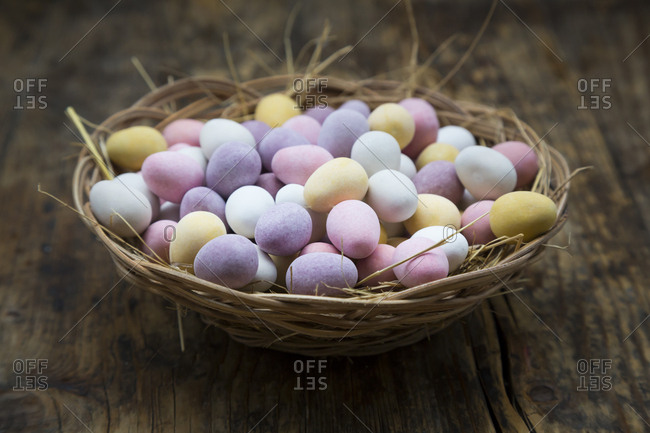 Easter nest of Chocolate Easter eggs