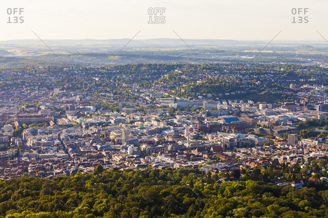 Germany- city view of Stuttgart from above