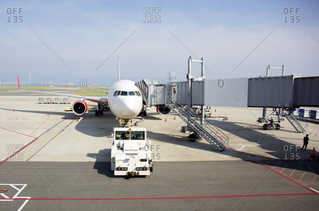 July 15, 2017 - Osaka, Japan: Jet on tarmac at Osaka International Airport