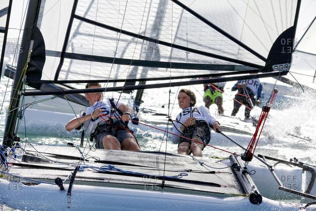 Kuah, Langkawi, Malaysia - December 31, 2015: Youth sailing world championships, langkawi, malaysia