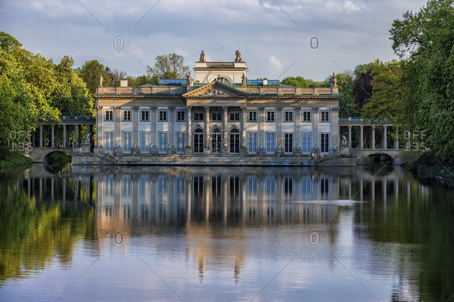 Poland- Warsaw- Royal Lazienki Park- Palace on the Isle- northern facade