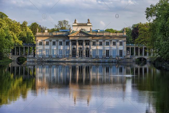 Poland Warsaw Royal Lazienki Park Palace On The Isle