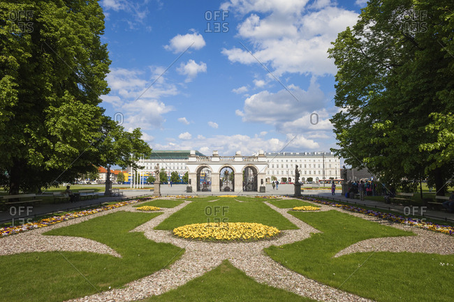 Poland- Warsaw- Saxon Garden- view towards Tomb of the Unknown Soldier and Pilsudski Square
