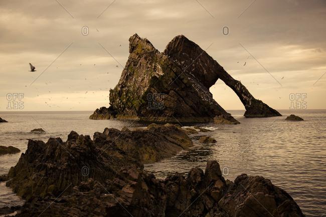 UK- Scotland- Bow Fiddle Rock