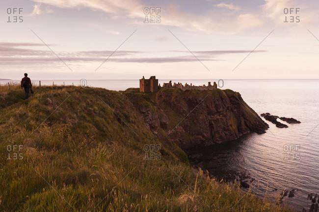 UK- Scotland- Stonehaven- Dunnottar Castle