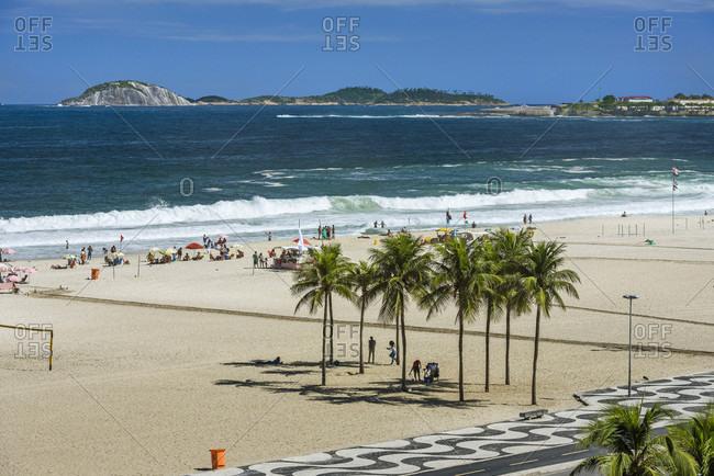 View from above to Copacabana Beach in Rio de Janeiro, Brazil