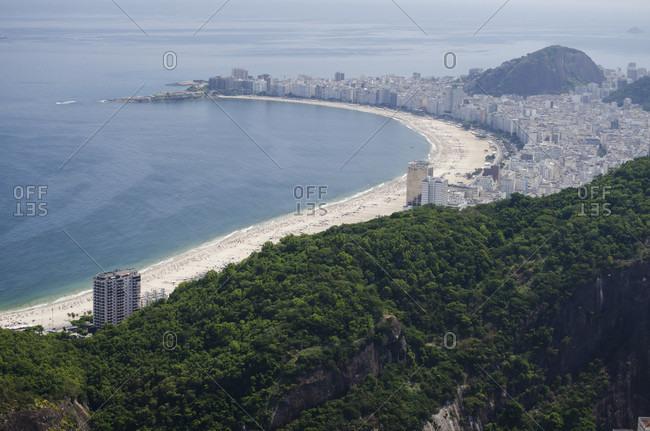 View from the Sugar Loaf to Copacabana Beach, Rio de Janeiro, Brazil