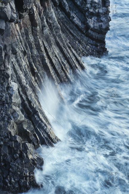 Columnar basalt cliffs at Arnarstapi, Snaefellsnes Peninsula, Iceland