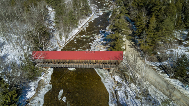 Albany covered bridge near the Kancamagus highway in New Hampshire.