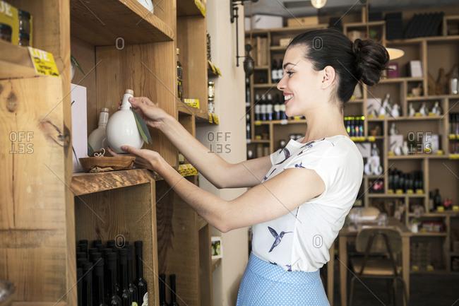Female owner of oil bar and restaurant