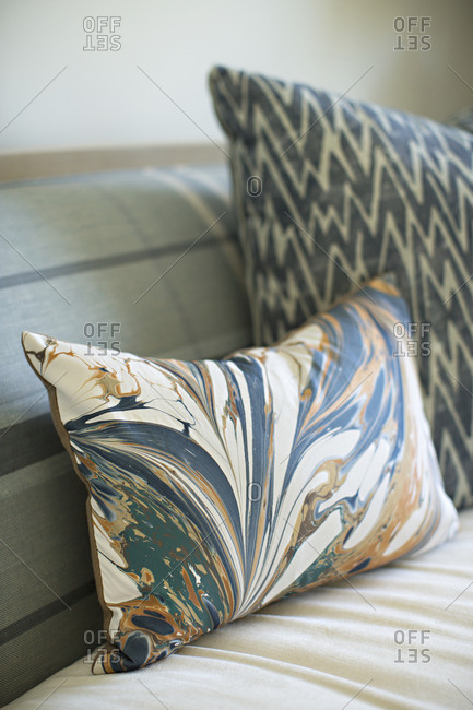 Pillows on a sofa