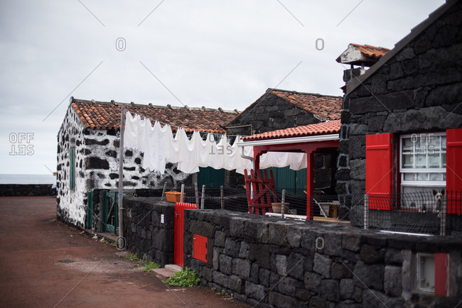 Exterior of a traditional stone house in Lajido, Portugal