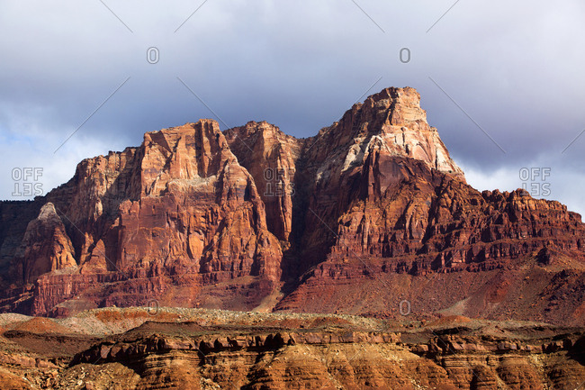 Scenic view of desert landscape