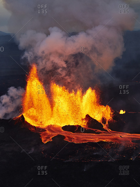 Holuhraun eruption in Iceland